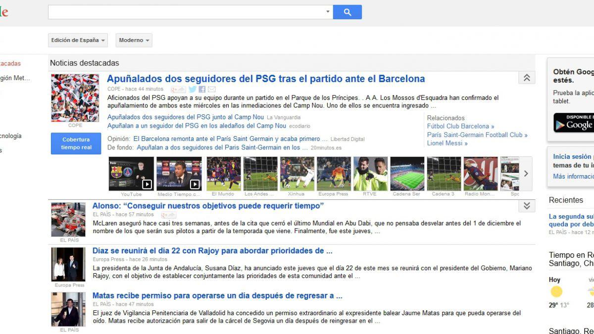 Google cerrará su servicio de noticias en España