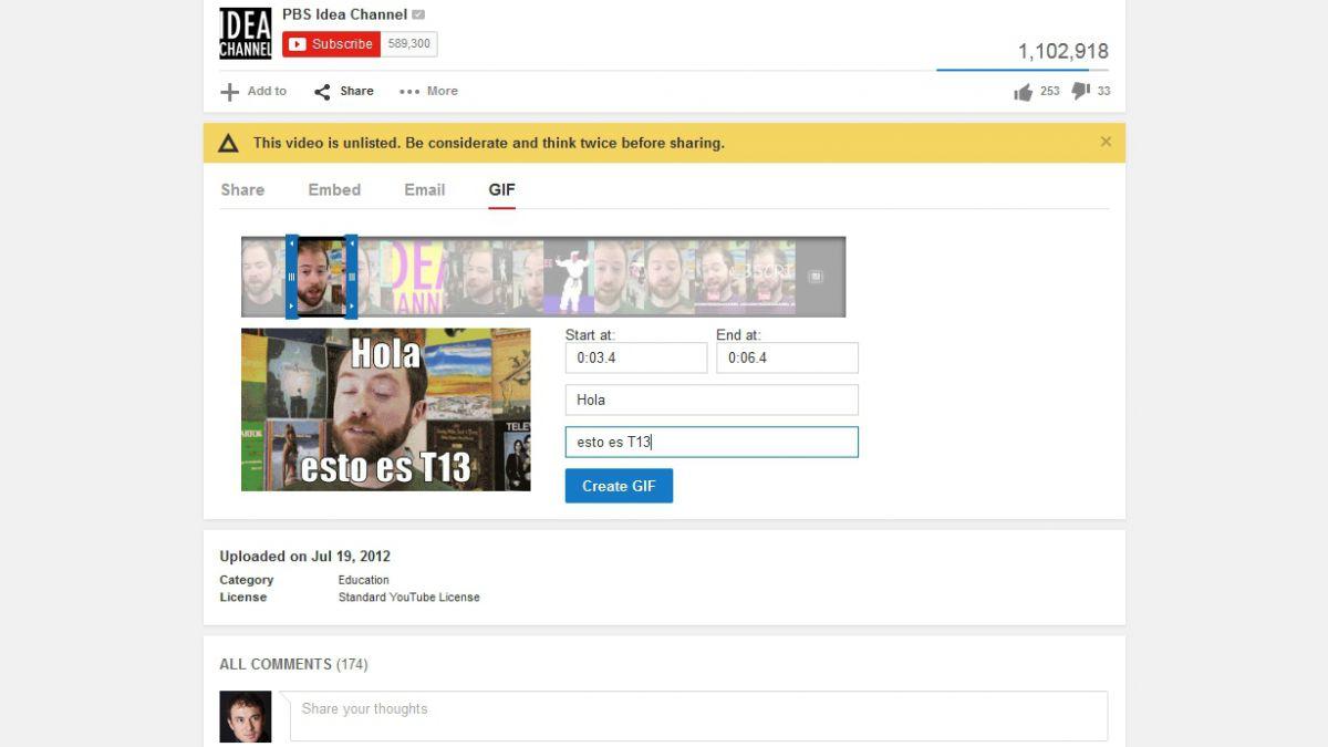 YouTube prueba función que crea animaciones fácilmente