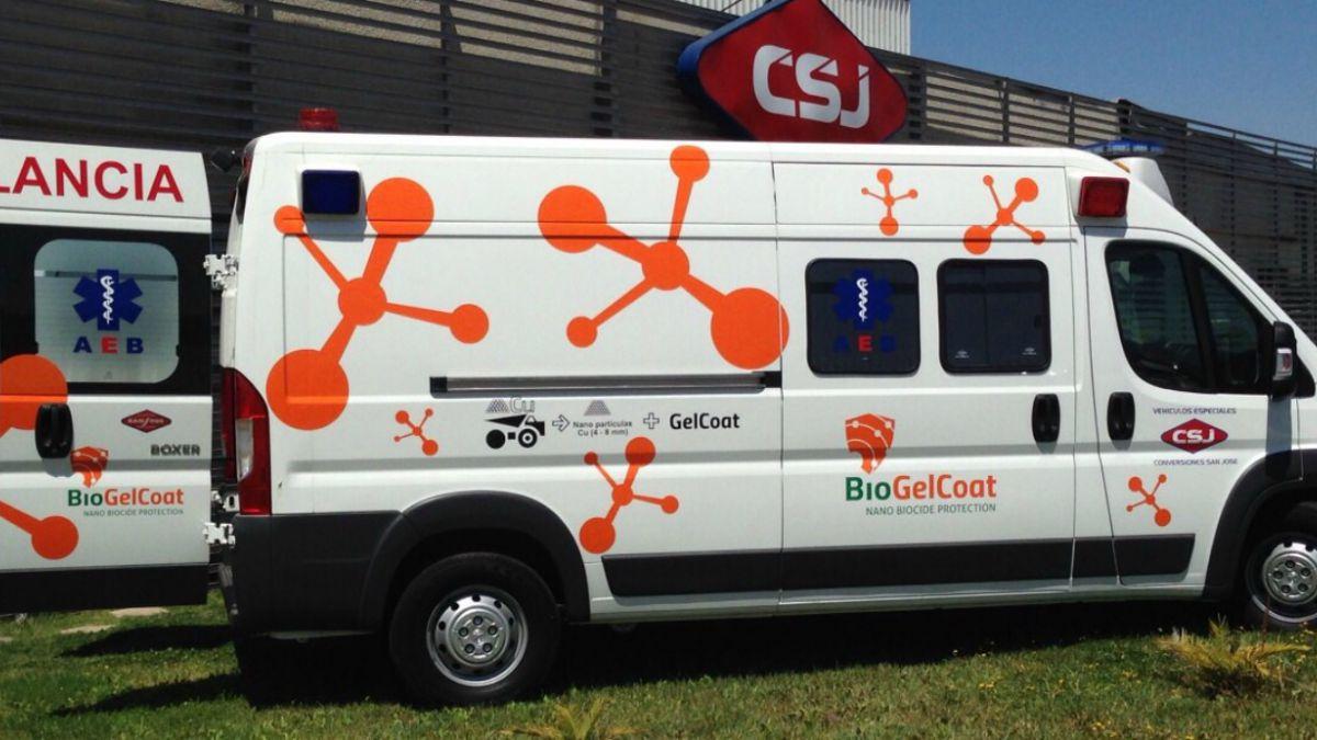 Se crea en Chile la primera ambulancia con nanopartículas de cobre