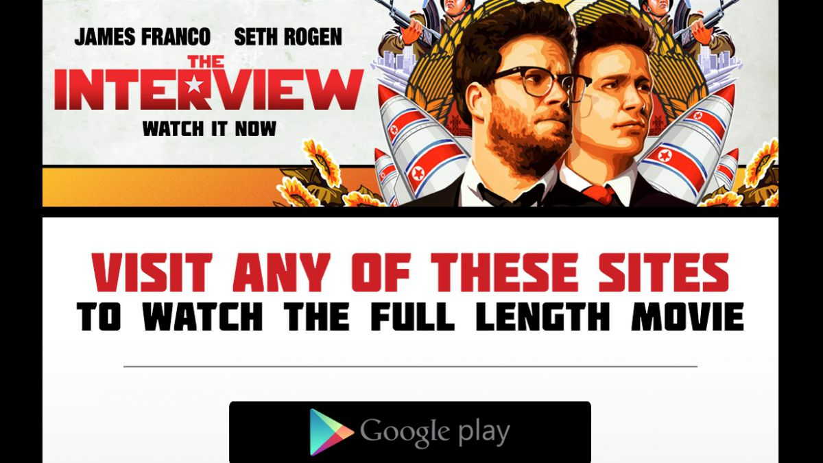 The Interview superó las 750 mil descargas ilegales