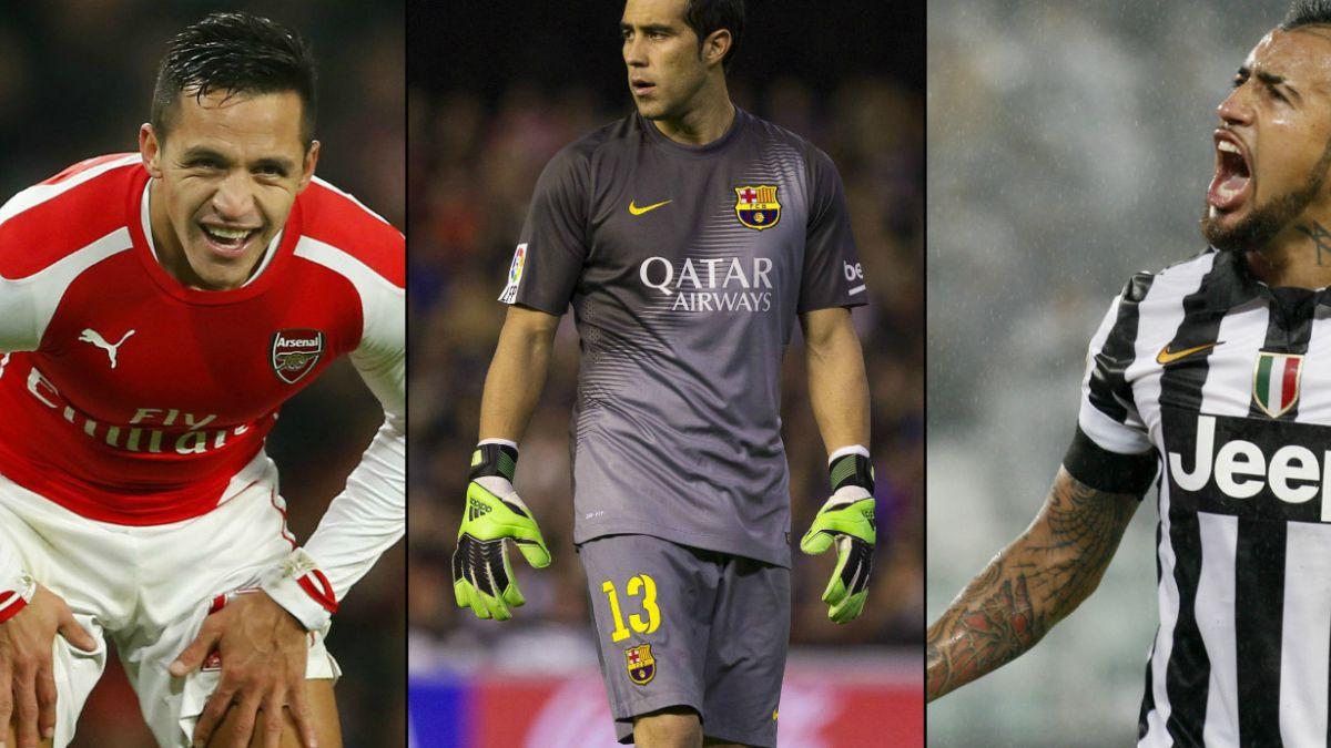 Sánchez, Bravo y Vidal: Los chilenos mejor evaluados del fútbol europeo