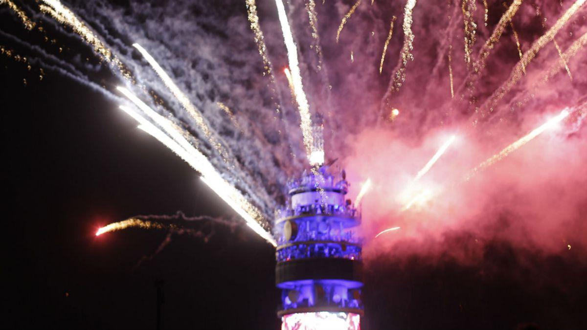 Fiesta en torre Entel tendrá media tonelada extra de fuegos artificiales