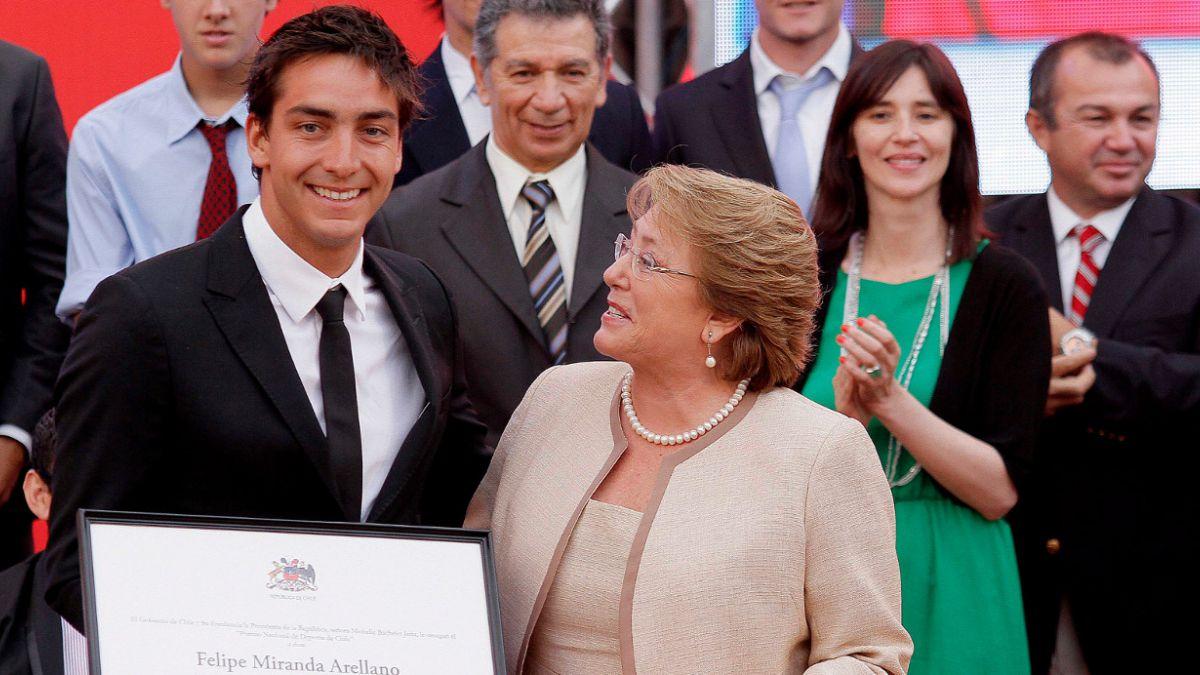Esquiador náutico Felipe Miranda recibe el Premio Nacional del Deporte 2013