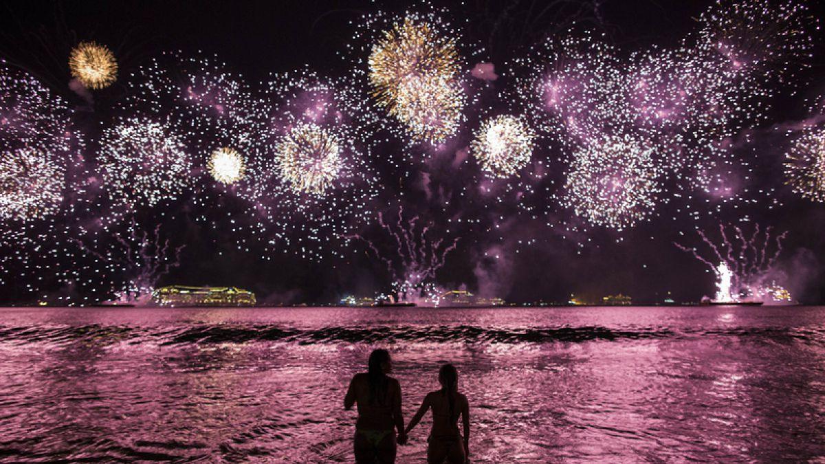 Las fotos que dejaron las celebraciones del año nuevo en las ciudades del mundo