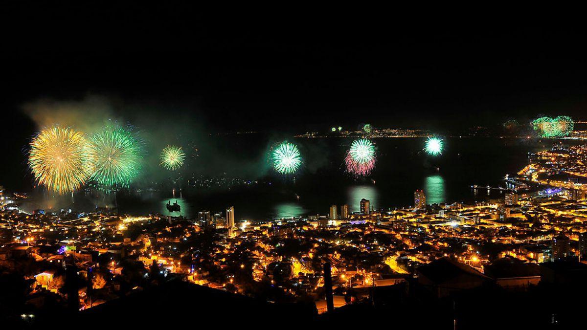 Concepción y Valparaíso no fallaron en la celebración del año nuevo