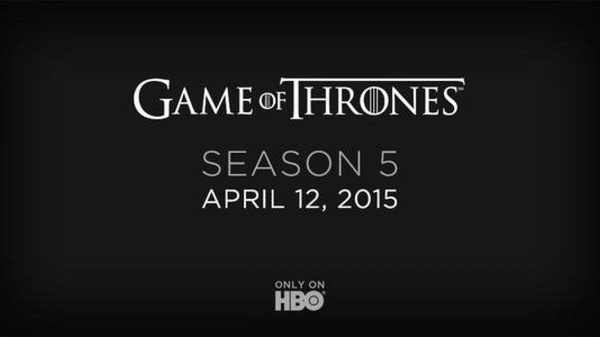 Game of Thrones confirma fecha de estreno de su quinta temporada
