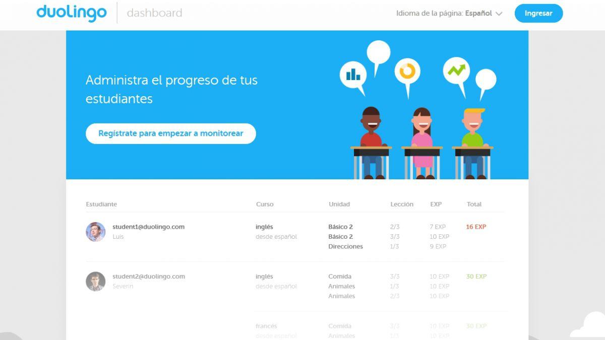 Duolingo presentó función para enseñar idiomas en clases