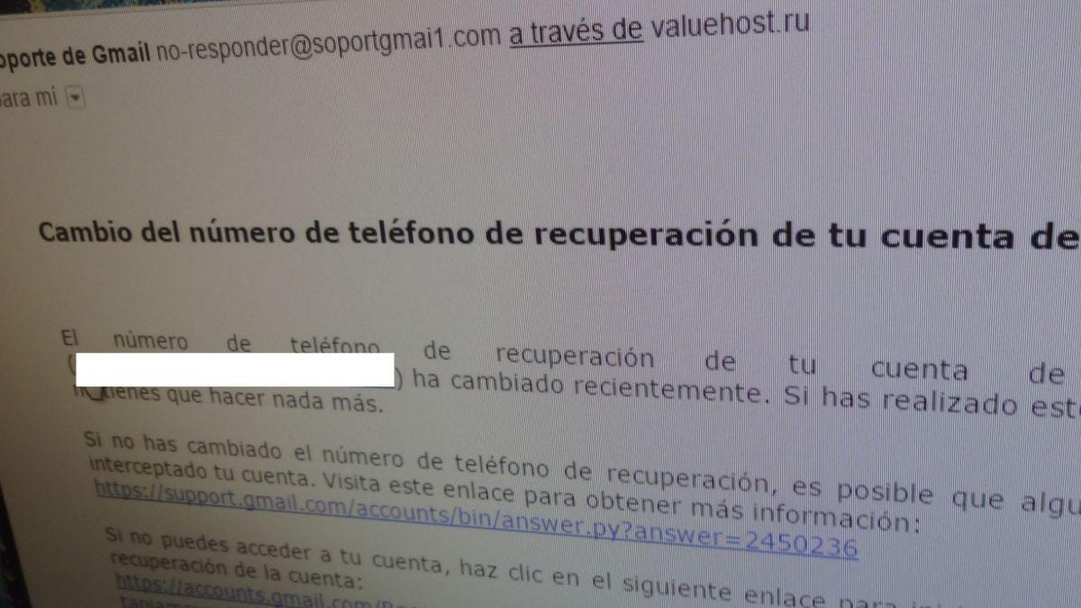 Estafa bien elaborada busca robar la contraseña de Gmail