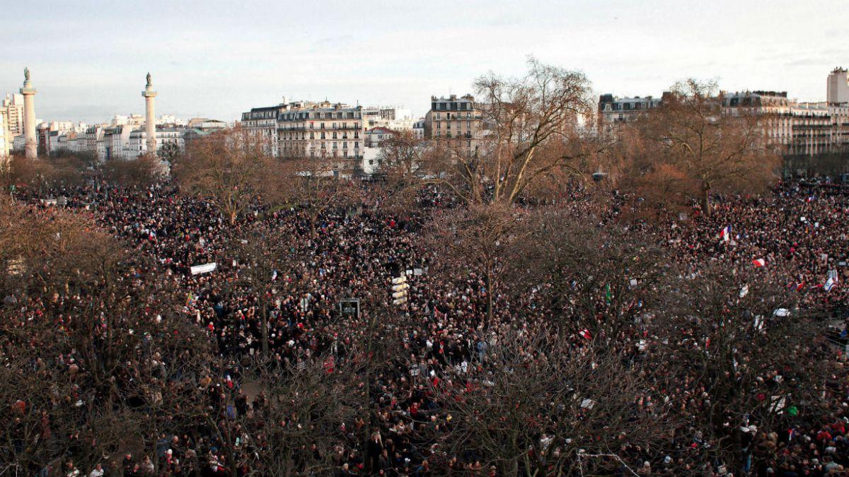 [FOTOS] Las mejores imágenes de la Marcha de la unidad en Francia