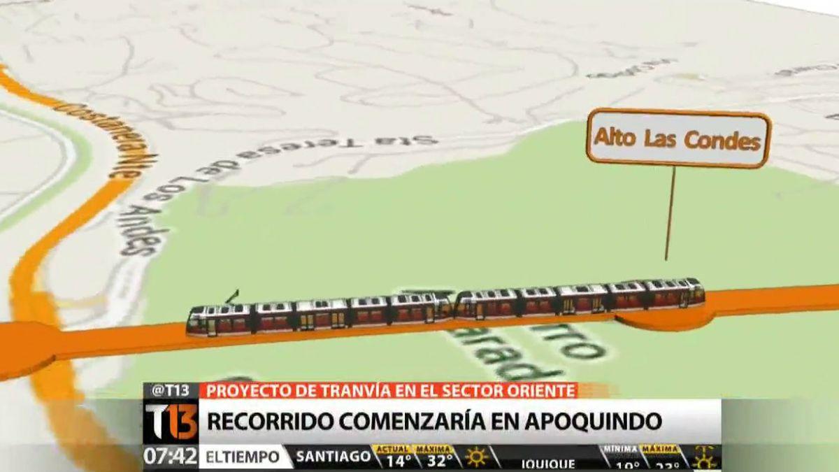 Los detalles del proyecto de tranvía para la zona oriente de Santiago
