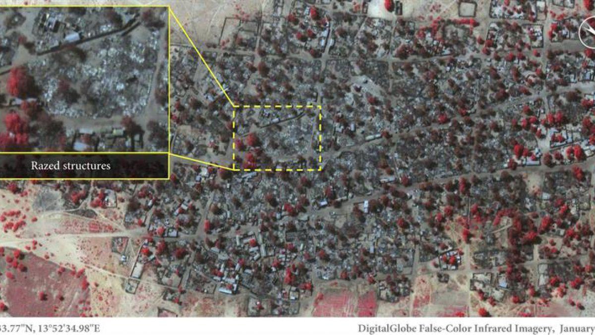 Imágenes satelitales muestran los daños causados por Boko Haram