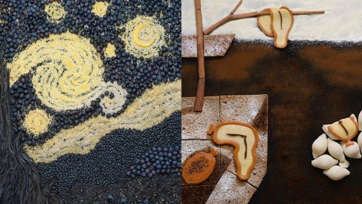 [FOTOS] Fotógrafa recrea famosas pinturas usando comida