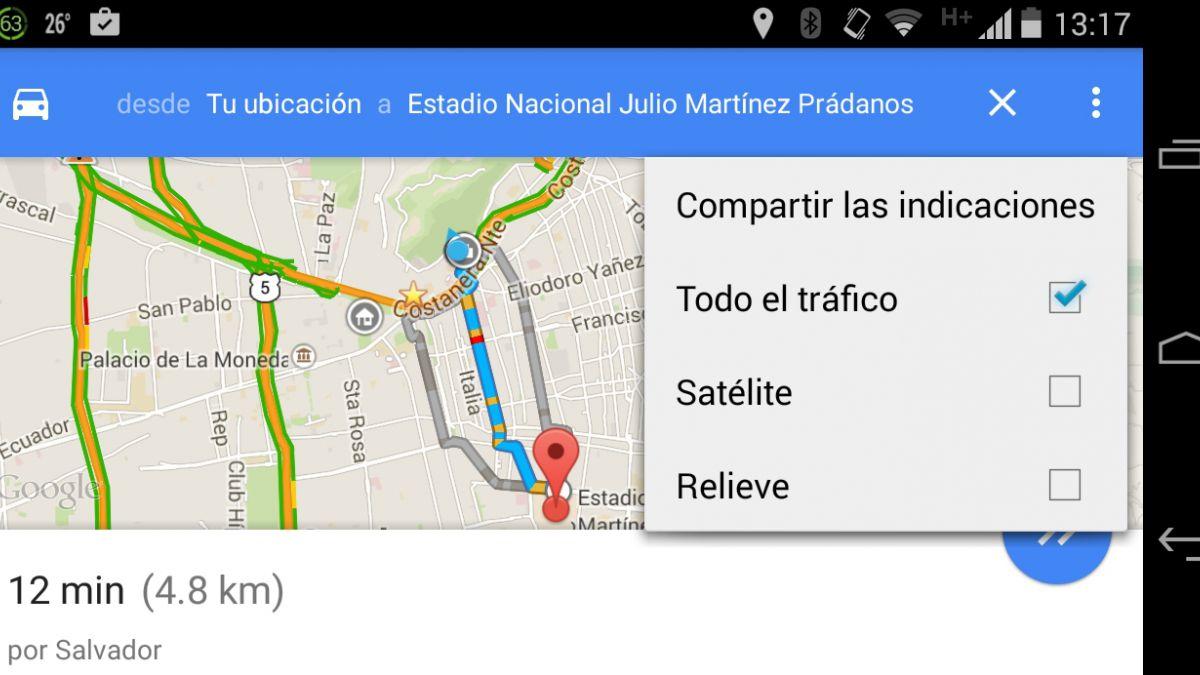 Google Maps ahora permite compartir indicaciones por WhatsApp