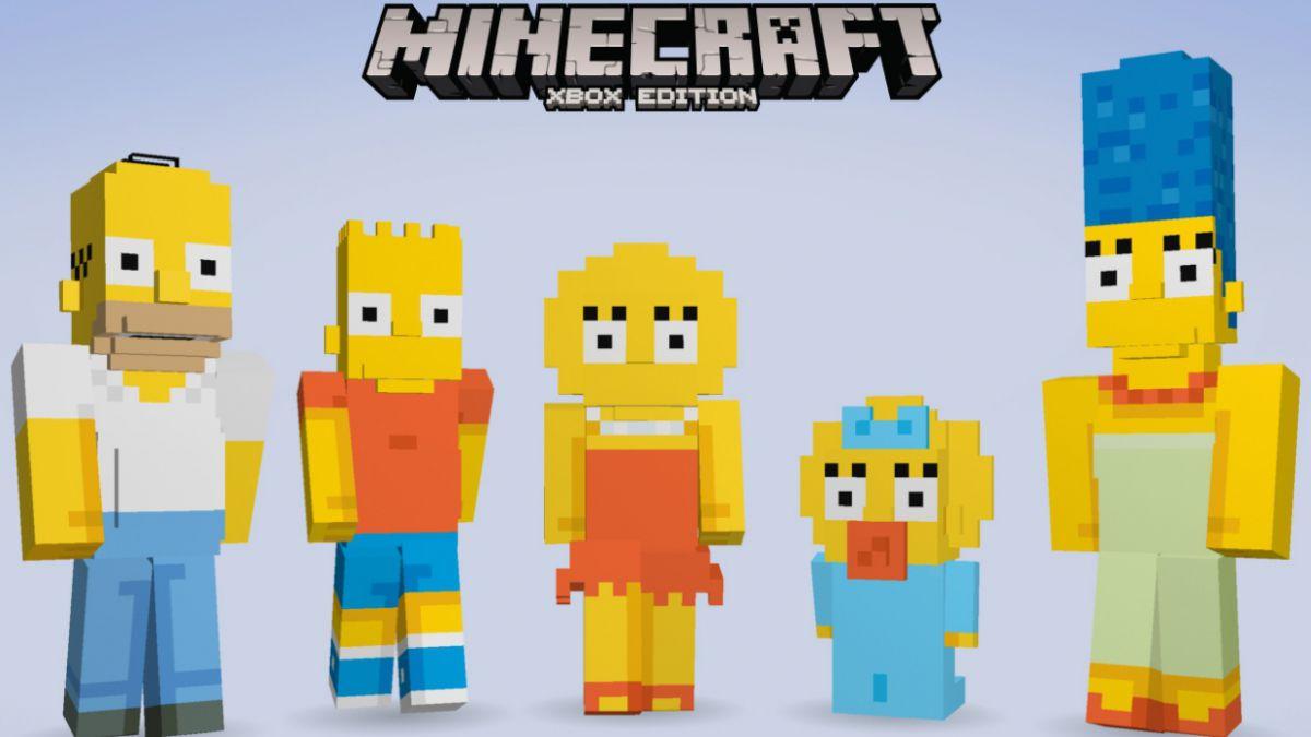 Los Simpson llegarán al popular videojuego Minecraft