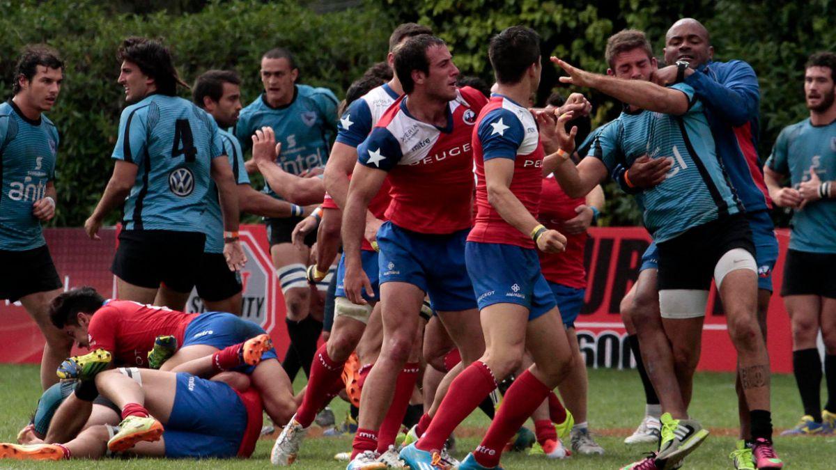 [VIDEO] Violenta pelea entre Chile y Uruguay tras partido de rugby en Viña del Mar