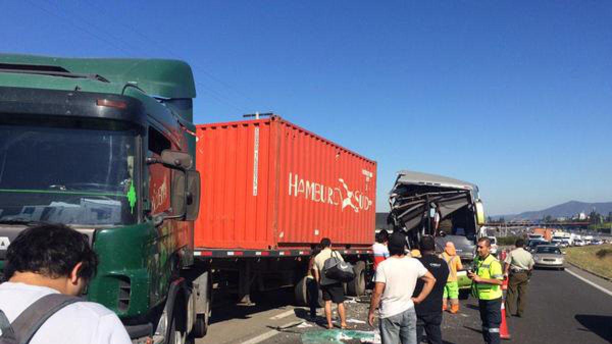 Alta congestión en un sector de la Ruta 68 por accidente vehicular