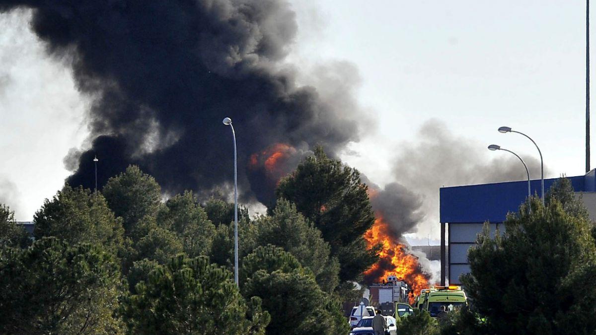 Ocho franceses y dos griegos fallecieron en accidente de F-16 en España