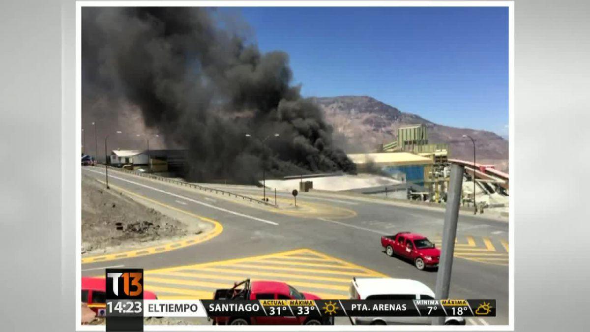 Codelco informa que incendio en El Teniente está bajo control y no ocasionó daño a personas