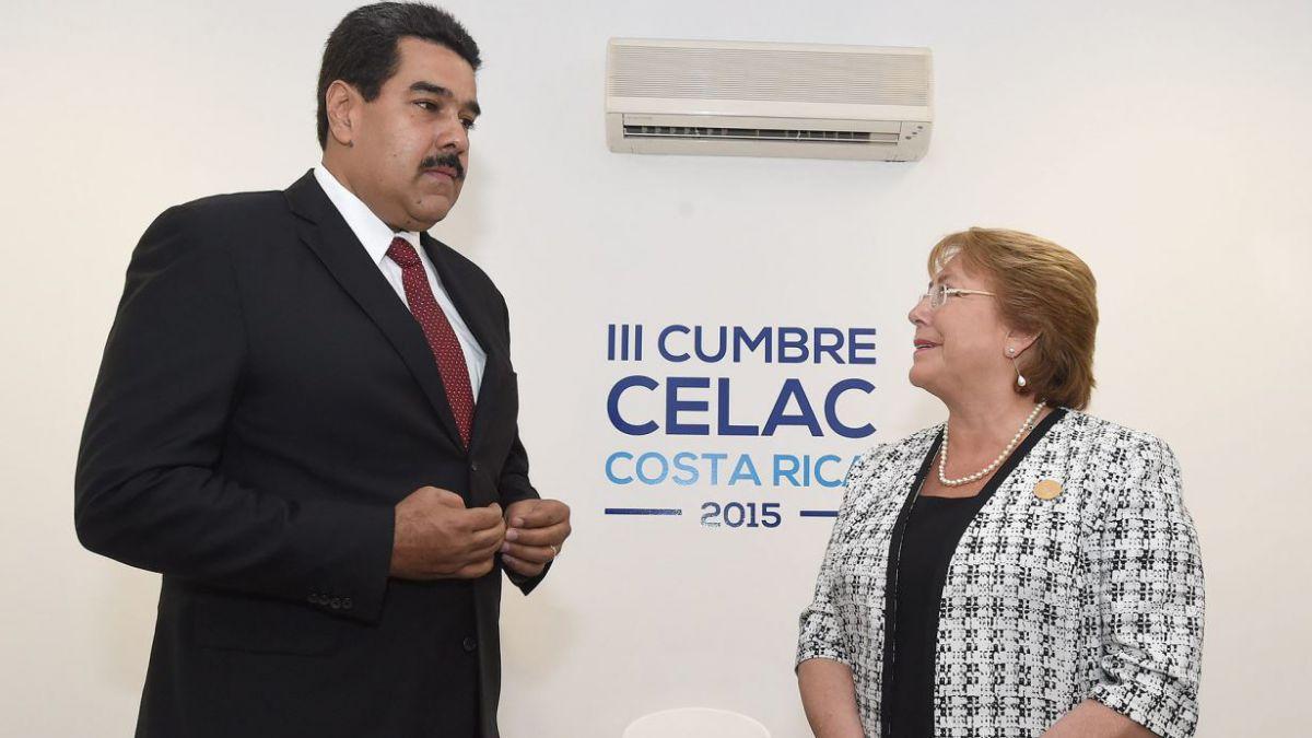 Bachelet se reúne con Maduro en medio de peticiones para liberar a López