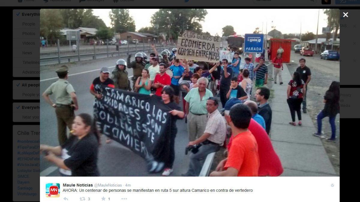 Protesta en peaje cerca de Talca provoca tránsito lento