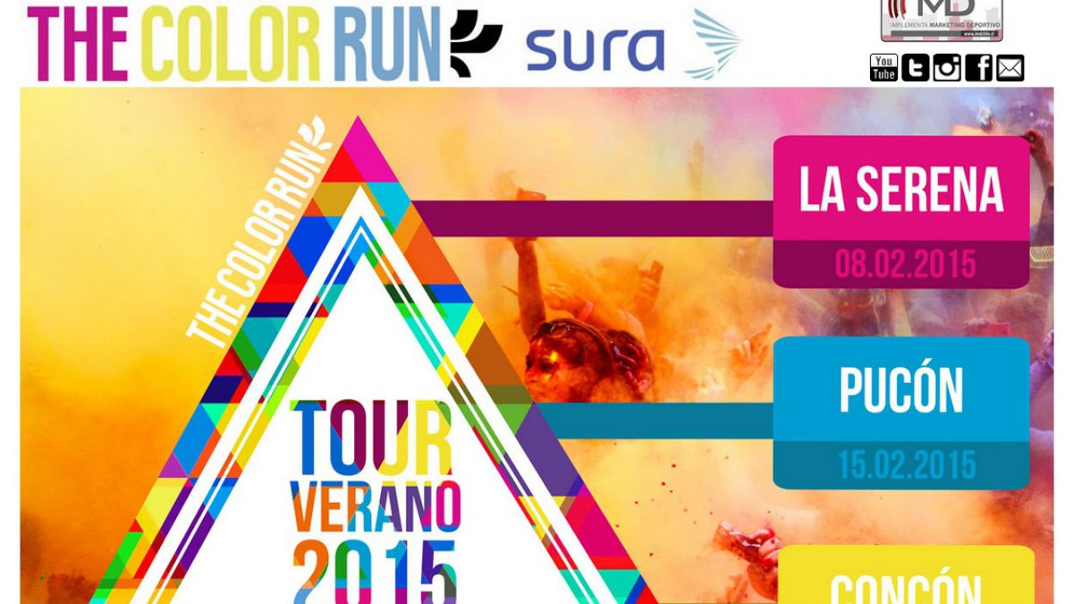 La Serena recibe este fin de semana la corrida The Color Run