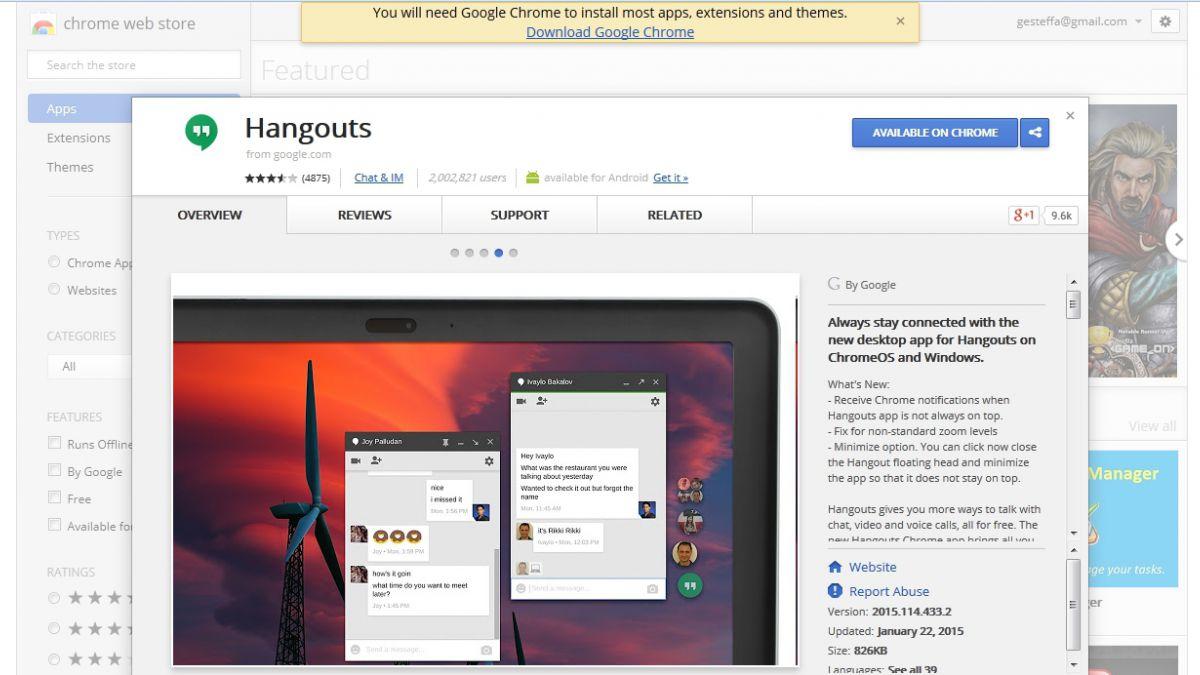 Google Talk quedará obsoleto el 23 de febrero