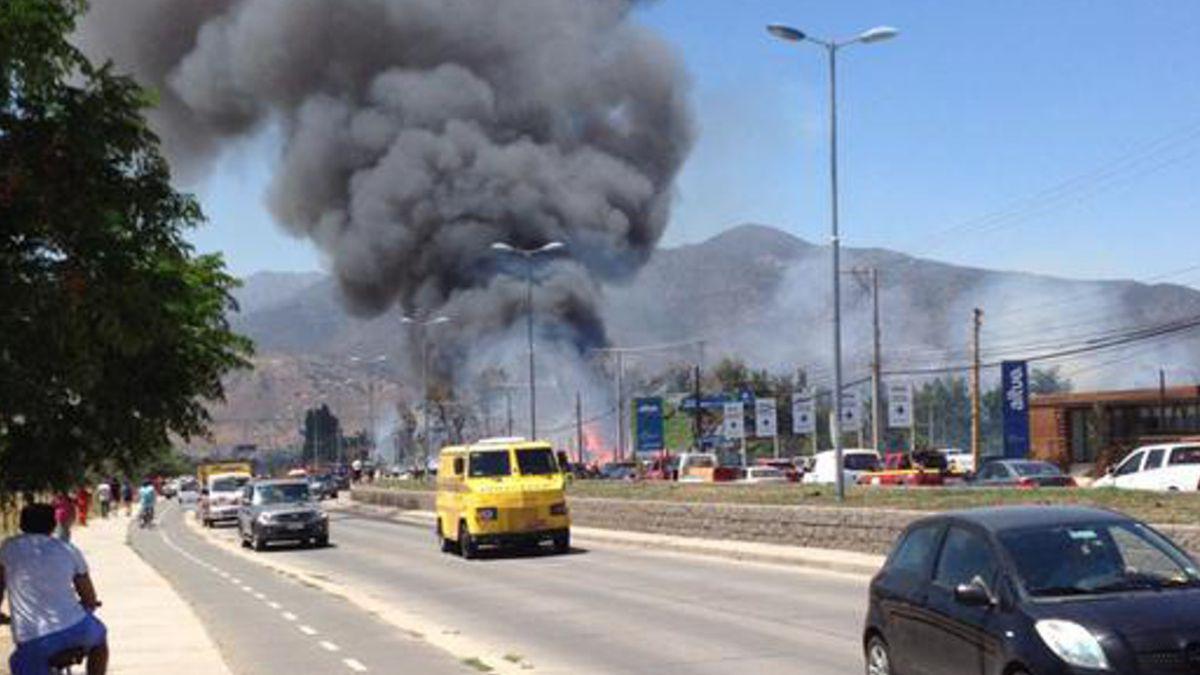 Intendencia de OHiggins declara Alerta Roja por incendio en Machalí