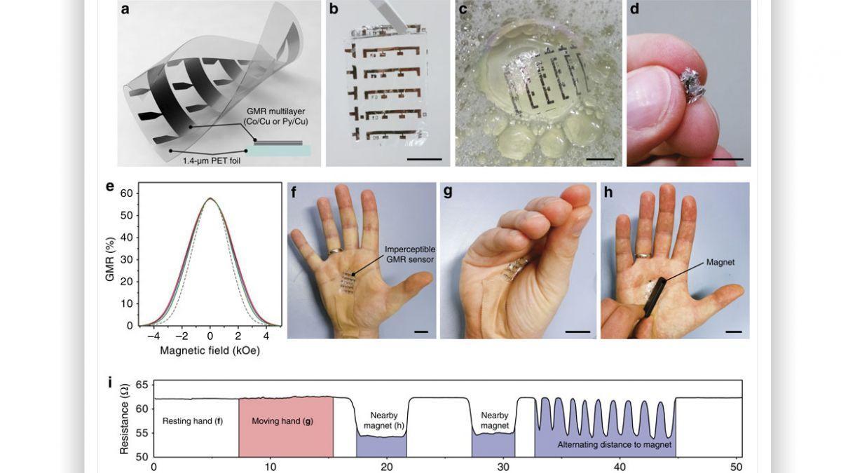 La piel electrónica que nos da un sexto sentido magnético