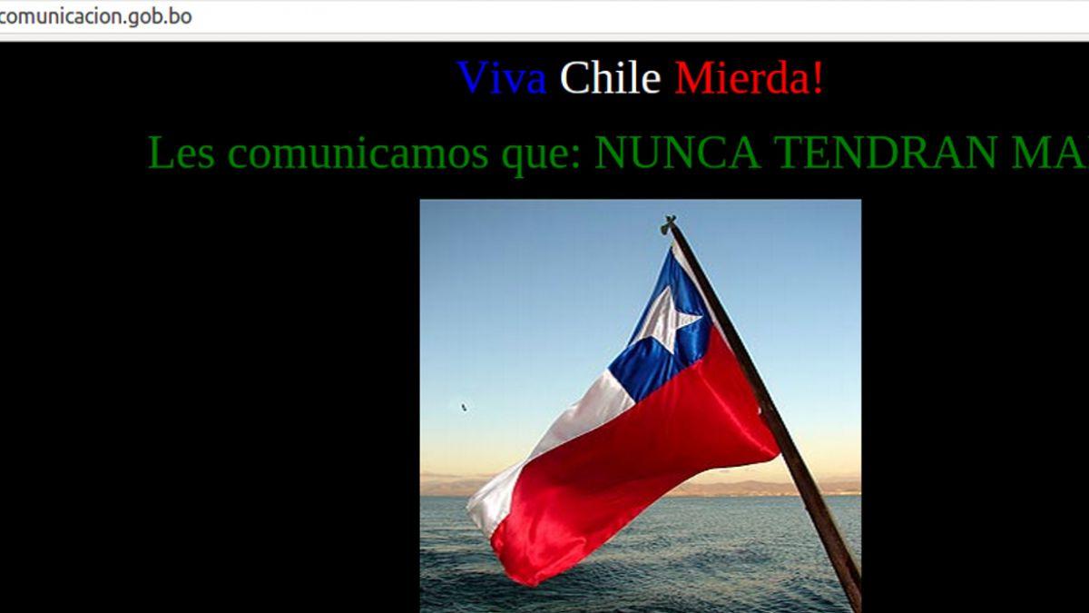 Hackers chilenos atacaron sitio web de ministerio boliviano