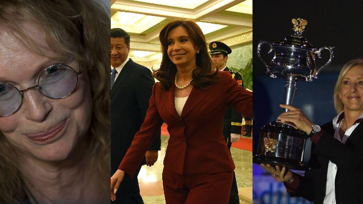 La insólita polémica de Cristina Fernández con Mia Farrow y Martina Navratilova
