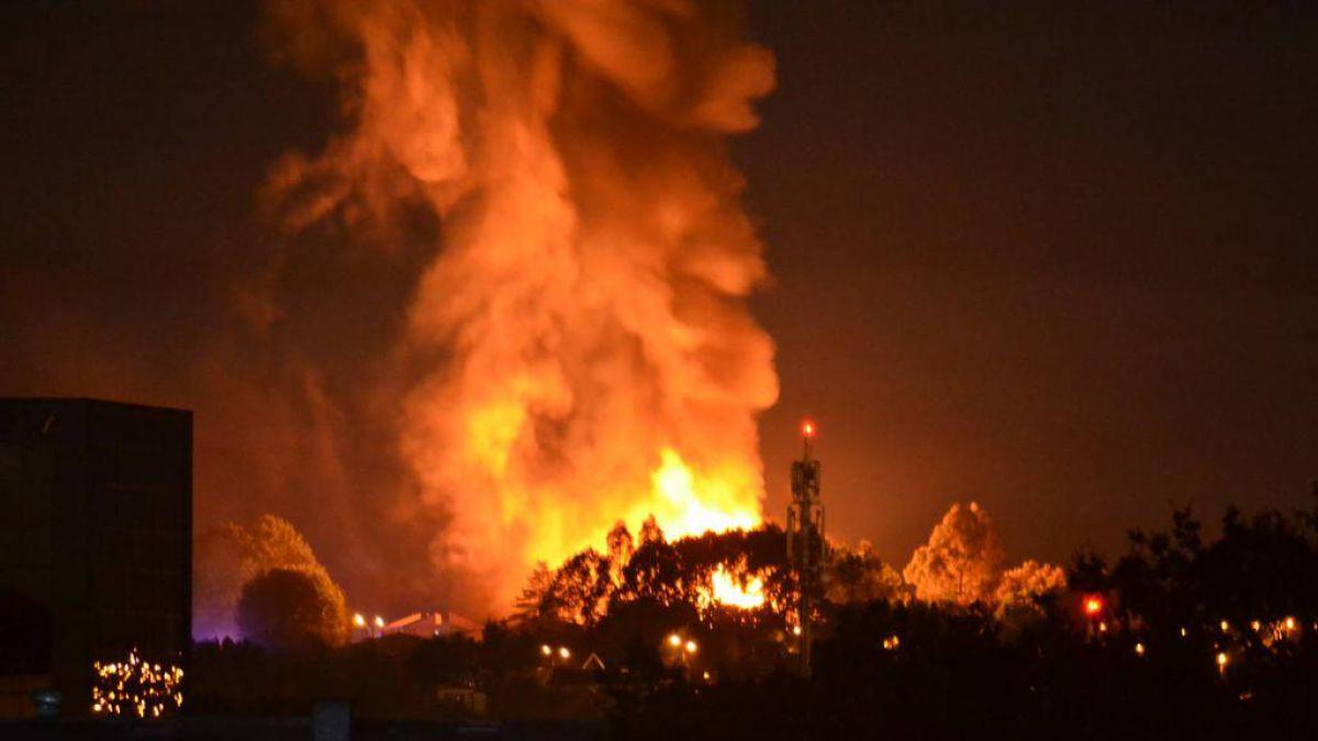 Violento incendio destruye parte del Liceo Rahue en Osorno
