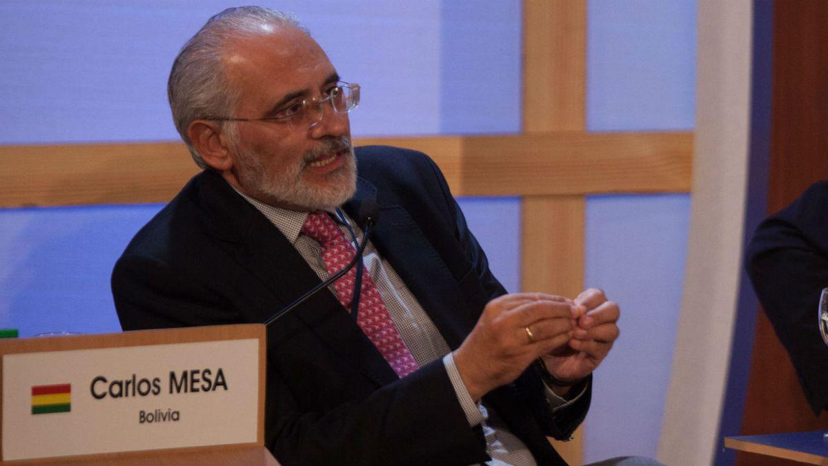 Entrevista a Carlos Mesa: Si le respondo al canciller, no estaría respetando mi investidura
