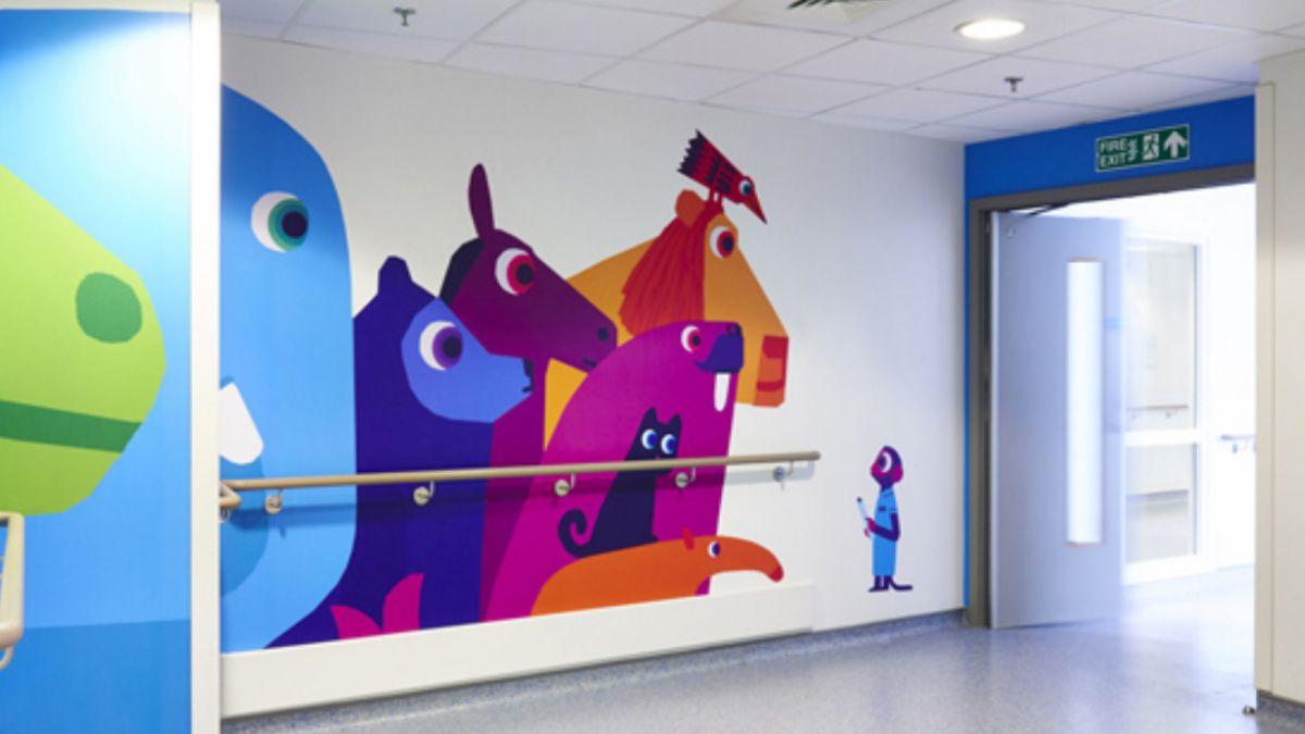 [FOTOS] Los impresionantes resultados en un hospital de niños decorado por artistas