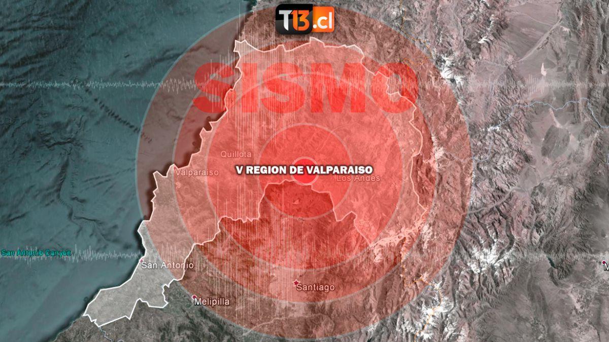 Sismo 5,9 Richter afecta a la zona central del país