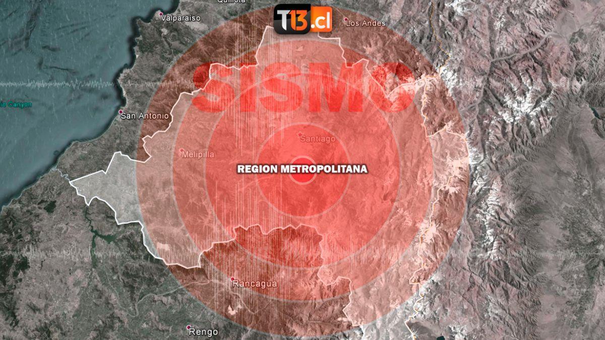Temblor de 4.9 se sintió en la zona central del país