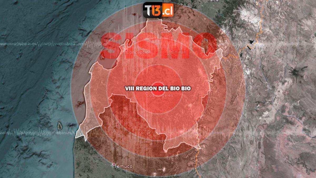 Sismo 4,6° Richter afecta a la región del Biobío