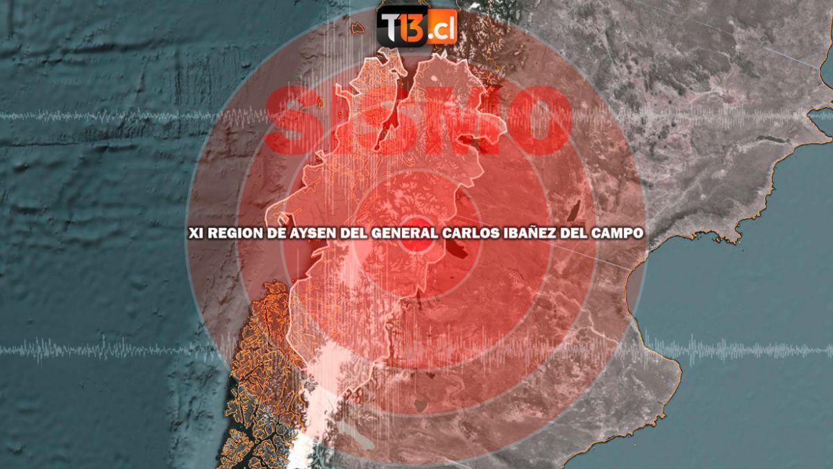 Sismo se registra en la región de Aysén