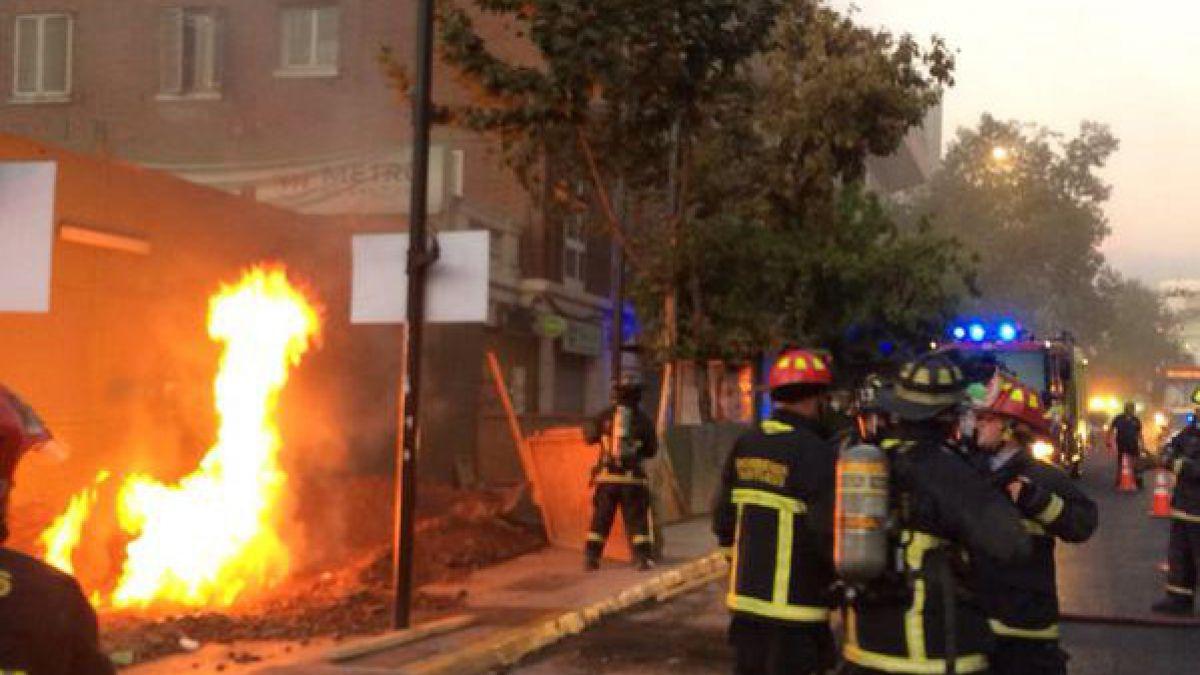[VIDEO] Explosión afecta a construcciones del Metro en Providencia