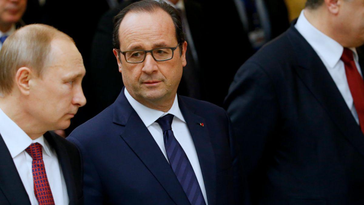 Presidente de Francia confirma solución política global y un alto el fuego en Ucrania