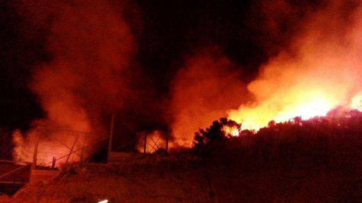 Gigantesco incendio forestal en el sector Pueblecillo del Maule