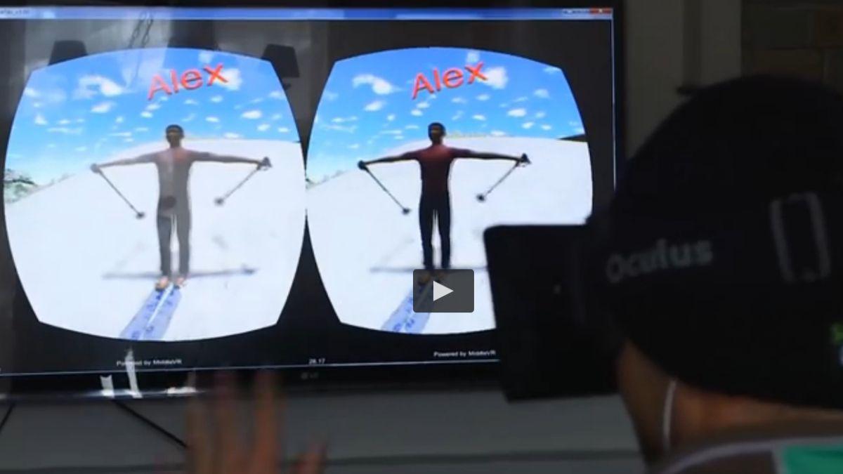 [Video] Esquiador profesional compitió con uno con lentes Oculus