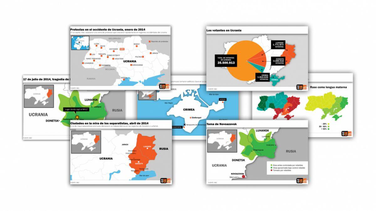 Siete mapas que explican la crisis en Ucrania