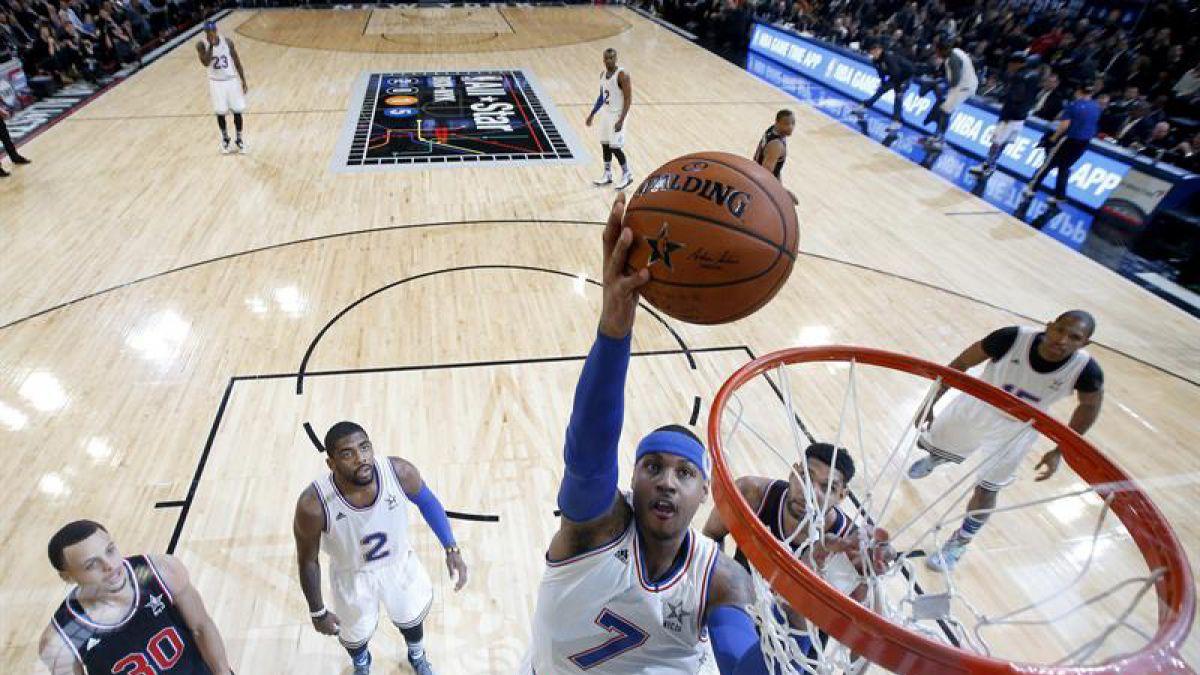 Carmelo Anthony se despide de la temporada de la NBA por lesión de rodilla