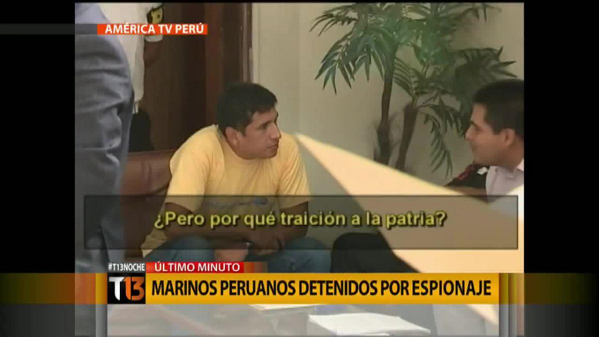 Detienen a dos suboficiales de la Marina peruana por espionaje a Chile