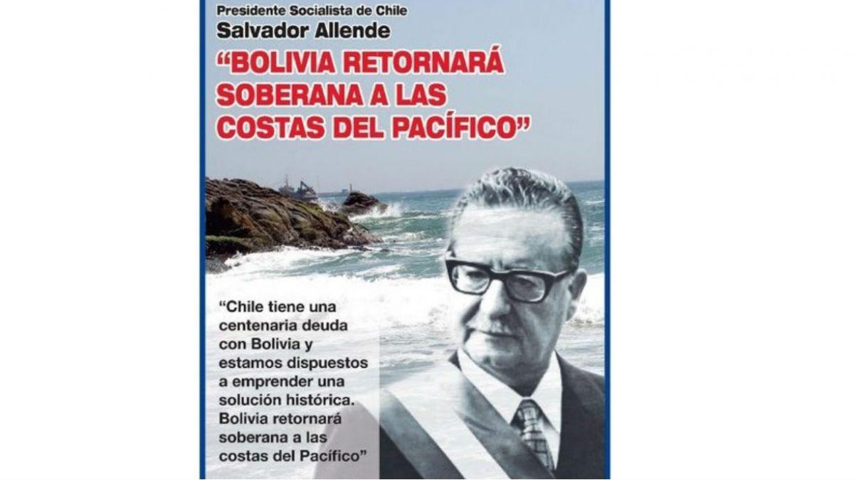 Gobierno boliviano publica inserto en diario con dichos de Allende sobre salida al mar