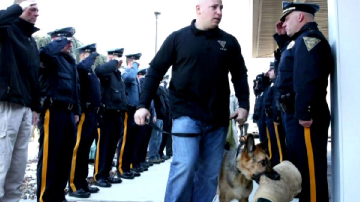 Judge el perro policial despedido con honores antes de ser sacrificado en EE.UU.