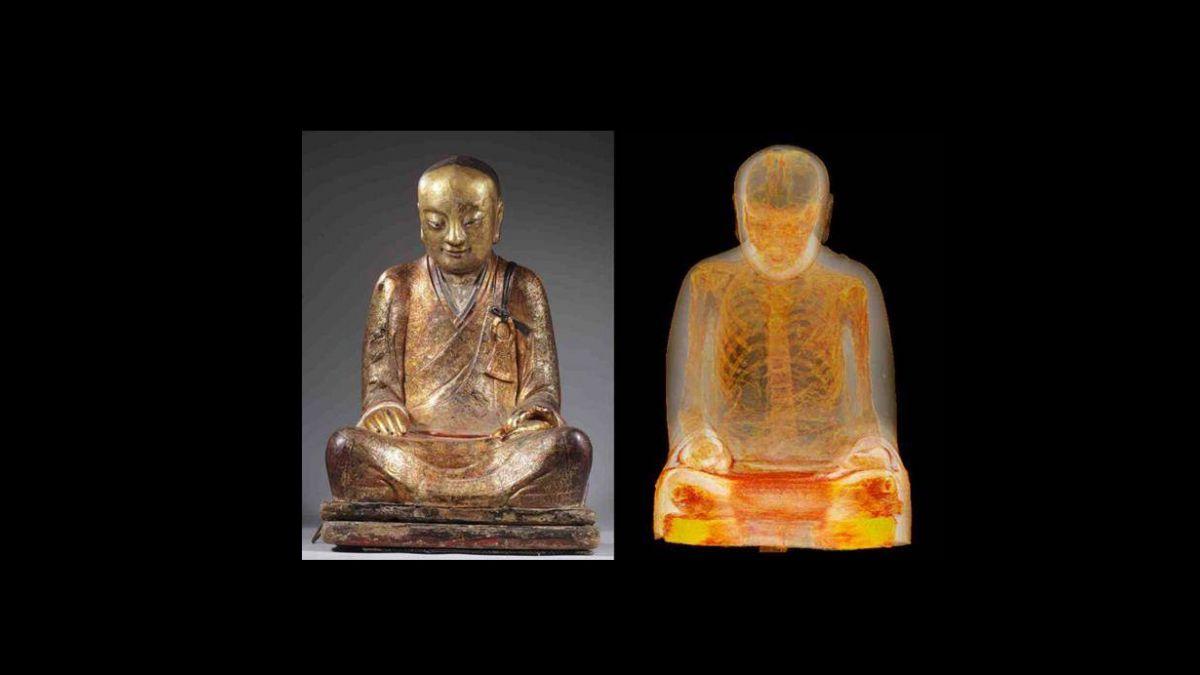 Descubren a monje momificado de más de 1.000 años
