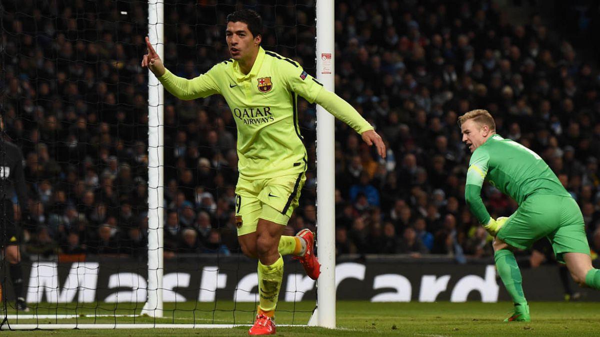 Suárez ante City revivió sus mejores momentos en Inglaterra