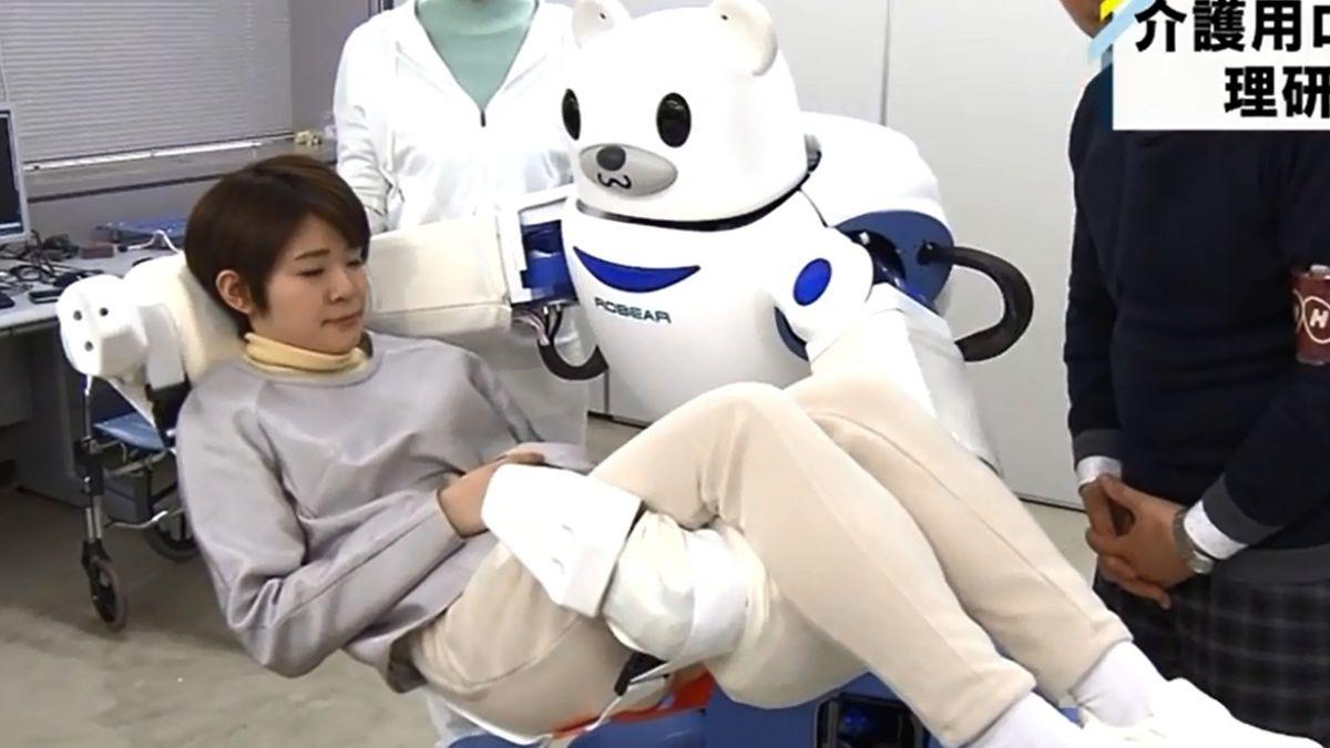 Robot-oso japonés ayuda a personas con discapacidad