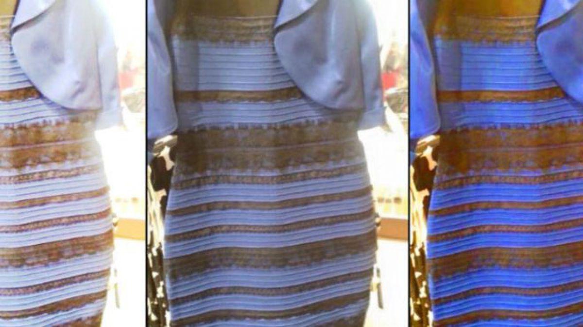 Vestido azul con negro o dorado